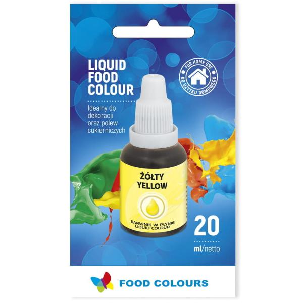Barwnik spożywczy w płynie ŻÓŁTY 20ml - Food Colours