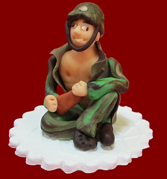 Figurka cukrowa na tort ŻOŁNIERZ Wieczór Panieński