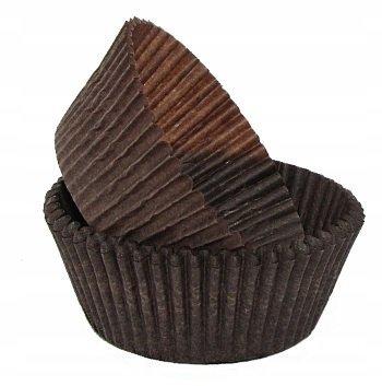 Papilotki foremki na muffinki 50mm brązowe 100szt