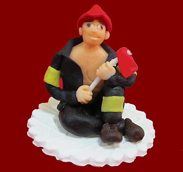 Figurka cukrowa na tort STRAŻAK Wieczór Panieński