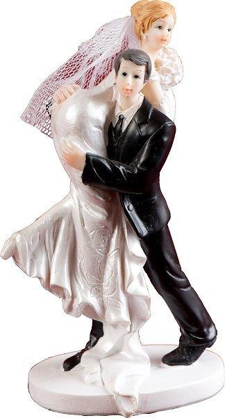 Figurka na tort ślub PANI MŁODA NA RAMIENIU