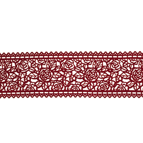 Cukrowa jadalna KORONKA do dekoracji tortu 120cm BORDOWA 07