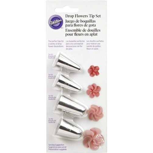 Wilton - Zestaw 4 tylek tylki do kwiatków