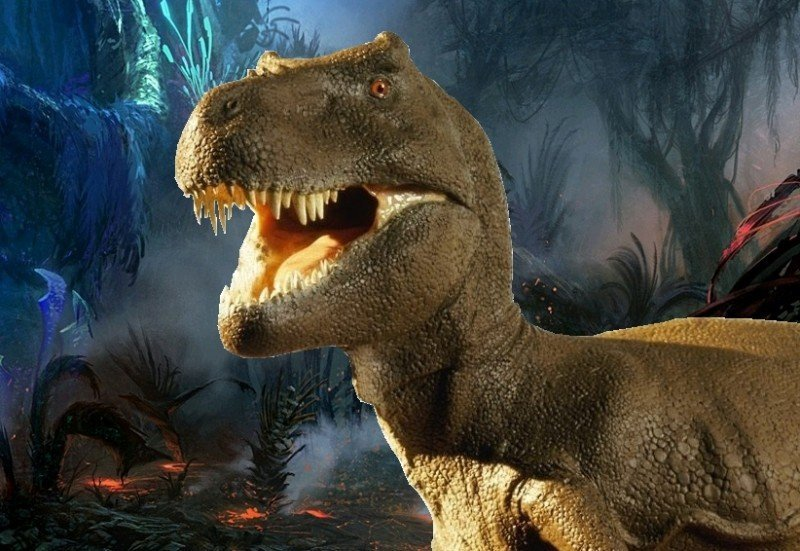 Hokus - opłatek na tort prostokątny Tyranozaur 9