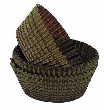 Papilotki foremki na muffinki 40mm brązowo-złote 100szt
