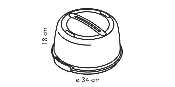 Wysoki pojemnik z wkładem chłodzącym na tort ciasto 34cm - Tescoma