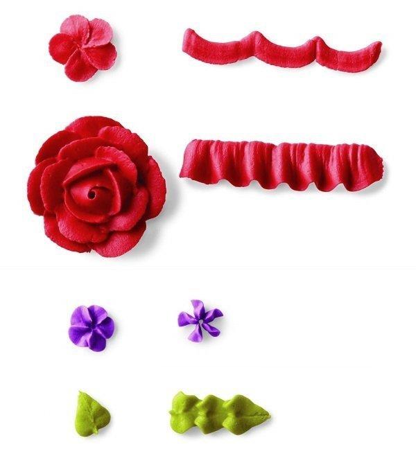 Tylki do kwiatów PŁATKÓW i LIŚCI zestaw 4szt - Wilton