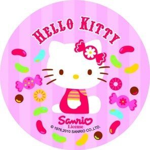 Modecor opłatek na tort Hello Kitty Cukierki 14,5cm