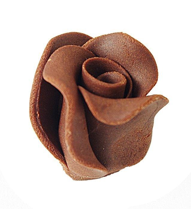 Róże cukrowe DUŻE 22szt czekoladowe