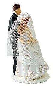 Figurka na tort ślub PARA MŁODA Siedząca Panna Młoda