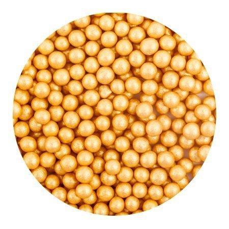 Perełki cukrowe ZŁOTE nabłyszczane miękkie 5mm 1kg