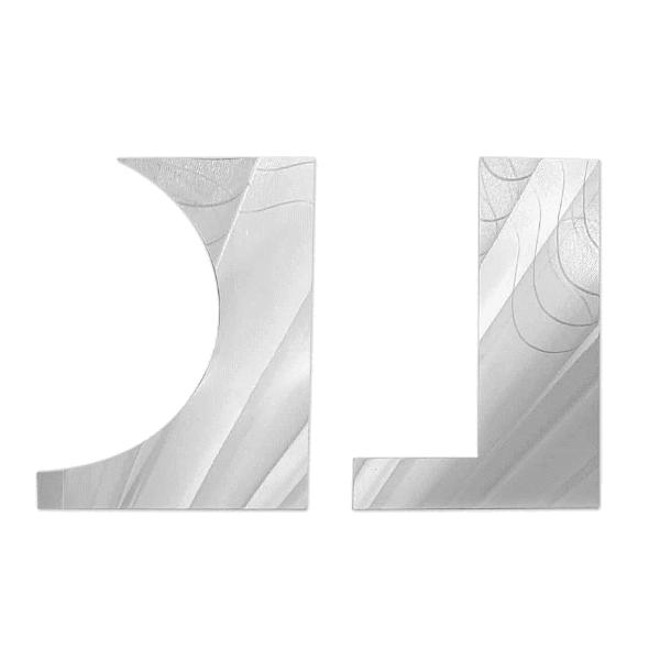Metalowe SKROBKI do kremu łopatki (wzór 1) - 2szt