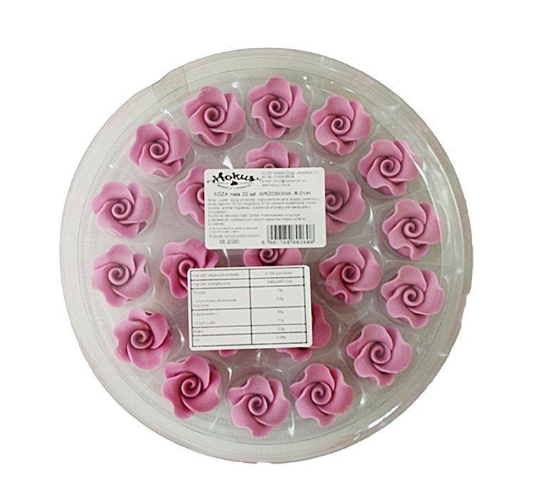 Róże cukrowe MAŁE 22szt wrzosowe