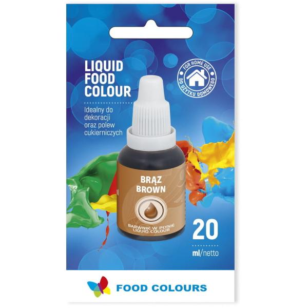 Barwnik spożywczy w płynie BRĄZOWY 20ml - Food Colours