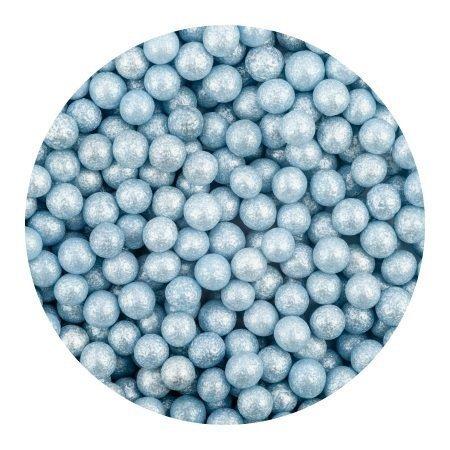 Perełki cukrowe NIEBIESKIE nabłyszczane miękkie 5mm 1kg