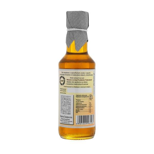 Olej świąteczny roztoczański 200 ml  bity tradycyjnie - tył.