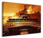 Eiffel tower on sunset - Obraz na płótnie