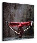 Czerwony tancerz - Obraz na płótnie