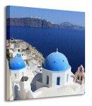 Kościoły na Santorini, Cyklady, Grecja - Obraz na płótnie