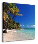 Tropikalna plaża - Obraz na płótnie