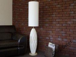 Lampa podłogowa - Kremowa - COCOON - 30x150cm