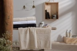 Ręcznik kąpielowy - Minos Beżowy - 100% Bawełny - 70x140 cm