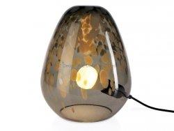 Lampa szklana - SHINY CLEAR 21x21x28cm