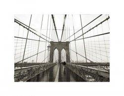 Brooklyn Bridge wide angle - reprodukcja