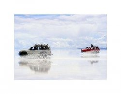 adventure on the bolivian salt-flats - reprodukcja