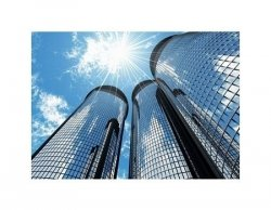 High modern skyscrapers - reprodukcja