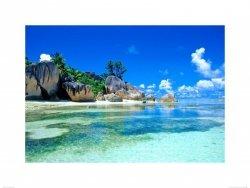 plage des seychelles - reprodukcja