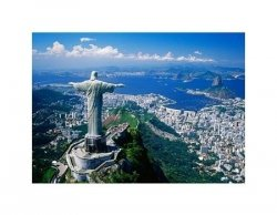 Corcovado und Christusstatue, Rio de Janeiro, Brasilien - reprodukcja