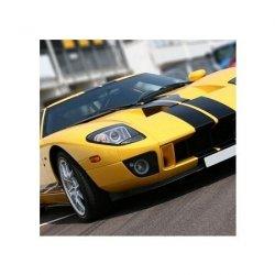 Super car at race circuit - reprodukcja