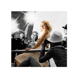 Superstar crowded by paparazzi - reprodukcja