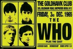 The Who (Goldhawke Club) - plakat