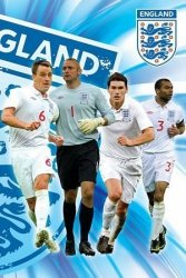 England F.A (Side 2/2 - Terry, Green, Barry & Cole) - plakat