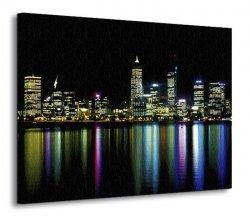 Obraz na płótnie - Miasto nocą - 120x90 cm