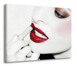 Obraz na płótnie - Czerwone usta kobiety - 120x90cm