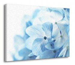 Obraz na ścianę - Błękitne Kwiaty - 120x90 cm