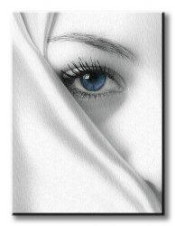 Obraz do sypialni - Tajemniczy błękit - 90x120 cm
