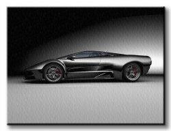 Obraz dla mężczyzny - Samochód wyścigowy - 120x90 cm