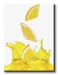 Obraz do kuchni - Cytrynowy sok -90x120 cm