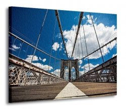 Obraz na ścianę - Brooklyn Bridge - 120x90 cm