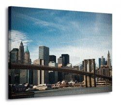 Obraz do salonu - Brooklyn Bridge - 120x90 cm