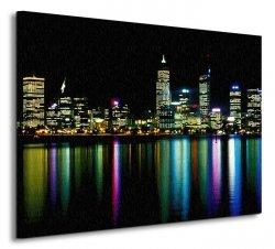 Obraz na płótnie - Miasto nocą - 80x60 cm
