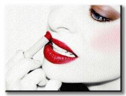Obraz do sypialni - Sexy kobiece usta - 80x60 cm