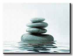 Obraz Kompozycja - Kamienie na Wodzie - 80x60 cm