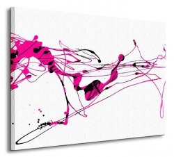 Abstract Zen ink Painting - Obraz na płótnie