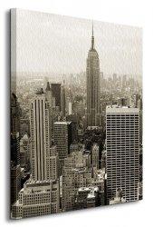 Manhattan panorama, sepia - Obraz na płótnie