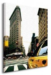 Cloudy day at New York - Obraz na płótnie